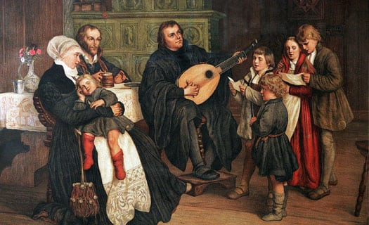 Martin Luther and choir