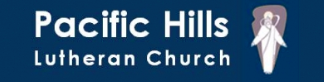 Pacific Hills Lutheran Church logo.  A LCMS Lutheran Church in Omaha, Nebraska